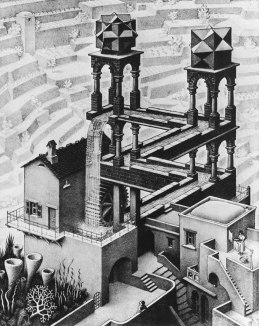 Escher - Waterfall