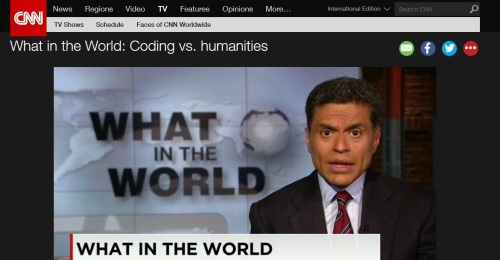Fareed Zakaria-What in the world- Coding vs humanities