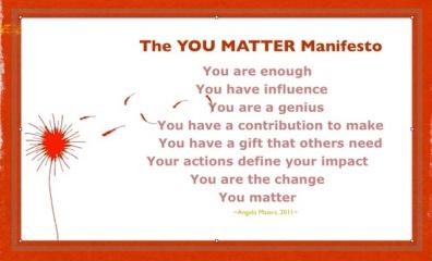 The YOU MATTER Manifesto